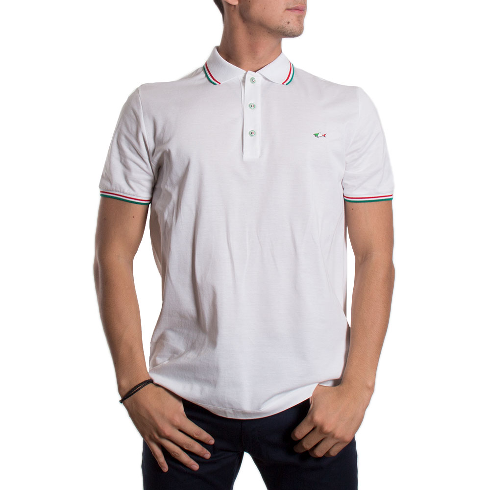 POLO PAUL & SHARK E18P1387 BLANCO