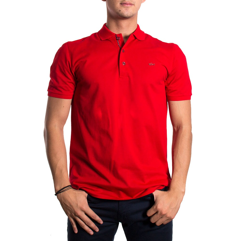 PAUL & SHARK POLO E18P1323 ROJO