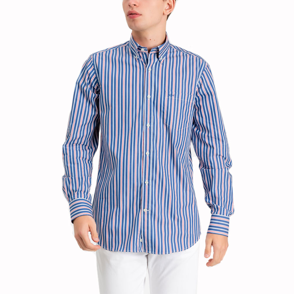 CAMISA PAUL & SHARK P19P3016 AZUL/BLANCO/ROJO