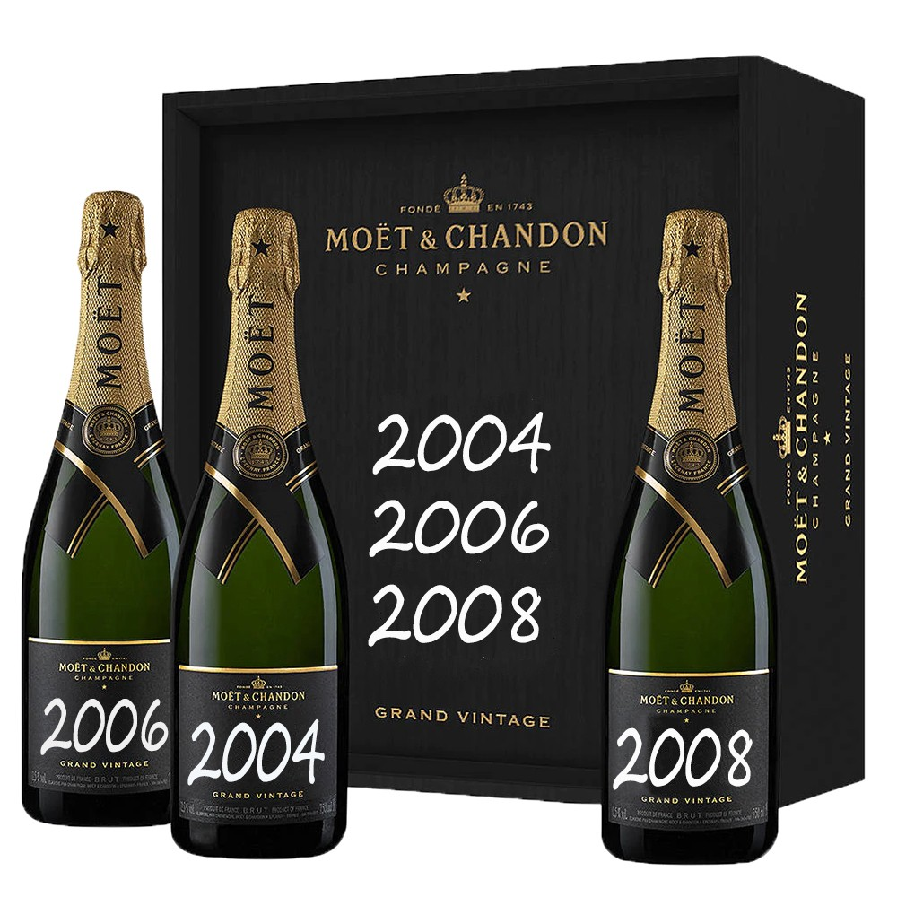 CHAMPAGNE MOET & CHANDON BRUT IMPERIAL GRAND VINTAGE 2004-2006-2008